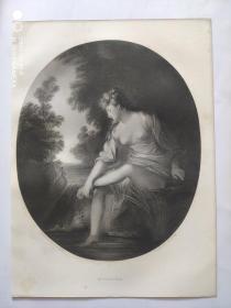 1853年  钢版画 手工雕刻 凹印 版画 《MUSIDORA》200405