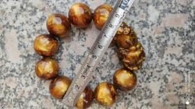首饰类;金丝海柳手链1串9颗有一个貔貅珠子2.30厘米
