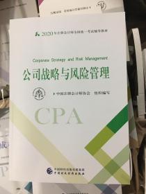 2020注册会计师考试教材《公司战略风险管理》