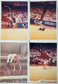80年代 体操 比赛照片