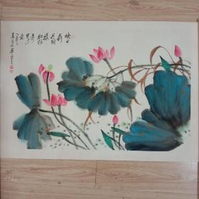 著名画家萧平作品镜心尺寸60cmx46cm..