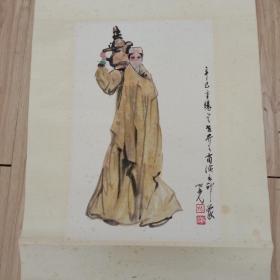 著名画家杨之光人物作品镜心尺寸40cmx27cm,品样自然旧!