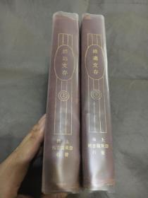 新文化巨匠 百年经典 1922年亚东图书馆《胡适文存》精装两册全 红布面洋装 定价大洋两元八角 私藏 有云南新亚书社销售章和一个苏州码子的定价章 非常有时代特色 好品难得