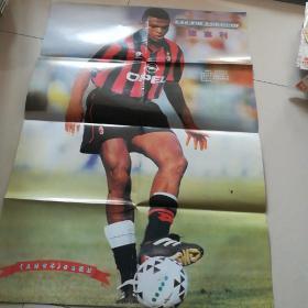 《足球世界》杂志海报,意大利AC米兰队中场核心德塞利一一一,胡志军
