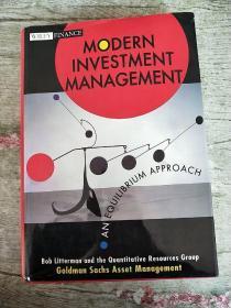 Modern Investment Management:An Equilibrium Approach