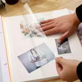 相册本自粘贴式覆膜diy手工纪念册宝宝成长记录册家庭插页式相