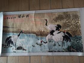 国画王军    群仙图     画133厘米 68厘米