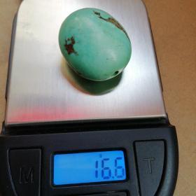 绿松石珠子,16克