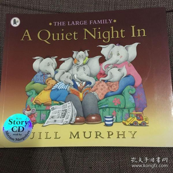 Large Family:A Quiet Night In(book+CD) 大象一家:爸爸的生日(书+CD)