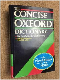 The Concise Oxford Dictionary of Current English (Eighth Edition) 简明牛津英语词典(第8版 英国原版)
