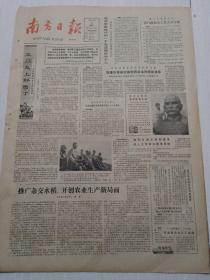 南方日报1982年11月12日(4开四版)推广杂交水稻开创农业生产新局面;