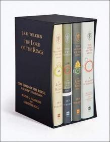 英文原版 The Lord of the Rings Boxed Set 指环王全4册精装版大套装 by J. R. R. Tolkien 托尔金 60周年版 4本全套套装