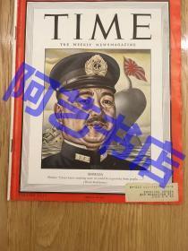"""【现货】时代周刊杂志 Time Magazine, 1944年,二战特别报道,封面 """" 日本海军大将 嶋田繁太郎"""",二战甲级战犯,第二次世界大战中任日本海军大臣、军令部总长"""",珍贵史料。"""