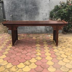 越南黄花梨镂空长条案