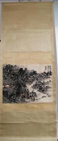 黄宾虹山水画立轴,纯手绘。工艺品
