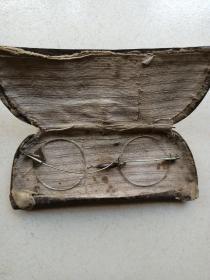 晚清老眼镜。直径4.2厘米。