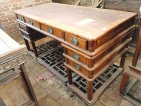 古董古玩老家具木器海南黄花梨书桌