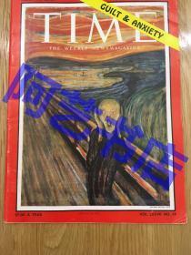 """【现货】时代周刊杂志 Time Magazine, 1961年3月,封面 """" 爱德华·蒙克的经典作品:The Scream 呐喊 """",珍贵史料。"""