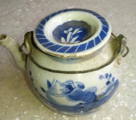 清青花壶,完美传世