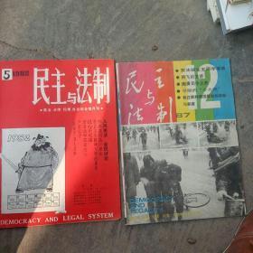 80年代民主与法制杂志 2本合售