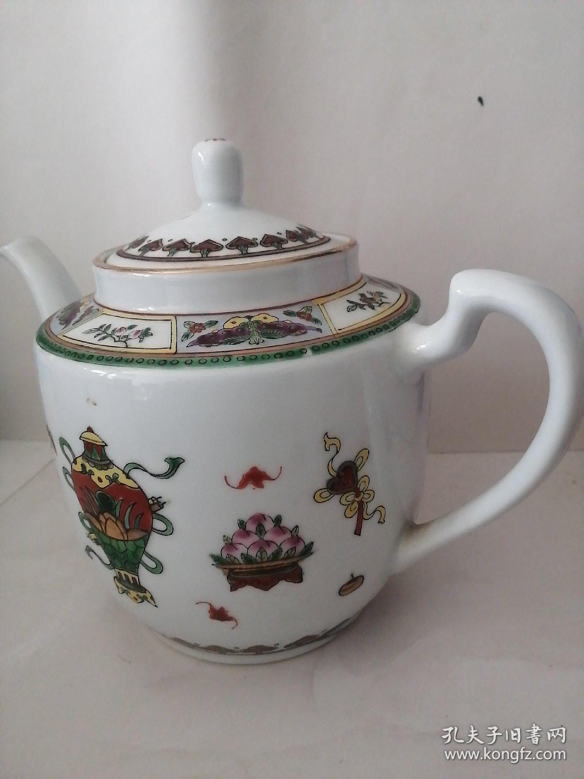 中国景德镇镶嵌描金茶壶