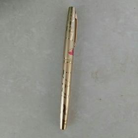早期,〈铝壳〉熊猫竹子图案,白翎牌〈MADE IN CHlNA〉出口标,钢笔一支〈未使用〉
