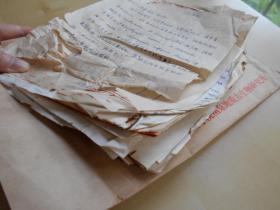 1979年【古生物所鉴定化石鉴定资料一沓】纸张有破损