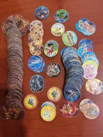 圆卡,食品卡,小当家圆卡,(小二郎和卡之宝有19个),共350个左右,另送280个右右瓜杂卡