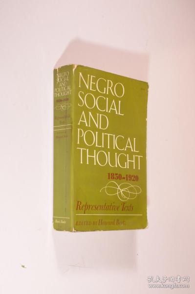 Negro Social and Political Thought, 1850-1920  Representative Texts英文原版《黑人社会与政治思想:资料精编》部分页受潮