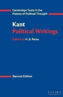 [英文](剑桥版)《康德政治著作集》Kant: Political Writings