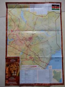 Map of KENYA肯尼亚地图(肯尼亚旅游局版)英文原版