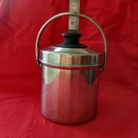 不锈钢双层饭盒饭桶大容量手提桶学生成人分格餐盒圆形便当盒