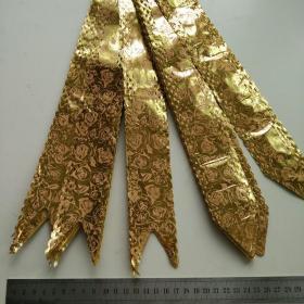 蝴蝶结手拉花金色彩带10个装婚房装饰婚车礼品抽花婚礼结婚用品