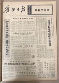 广西日报1971年7月9日《1-4版》《农业学大寨》