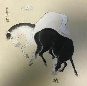 贵重,《仙人牛马图》1件,日本老旧绘画,卷轴,手绘,设色,卷末有天明4年(1784年)东都玉川氏书《为荣池一紫题群马图》题文等,可知此画应为荣池一紫于1784年题文书写之前画成,或是老画后裱,该卷以仙人图开卷,卷内绘有约42头骏马及14头牛,篇幅巨大,精美绝伦,牛马神情,姿态,肤色等各有特色,百趣横生,并标有名号,如有''玉鼻尖'''等,画工一流,线条勾勒极为流畅,色彩丰富,拿捏细腻,不世之精品。