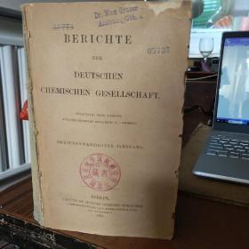 BERICHTE DER DEUTSCHEN CHEMISCHEN GESELLSCHAFT.(德文原版 书名以图片为准)