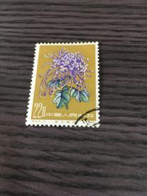 1960年特44菊花,盖销原胶全品一枚