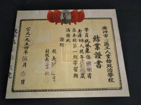 1954年台山县人民政府工商企业营业执照