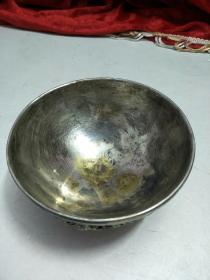铜碗(铜镀银)