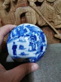 清代瓷器印泥盒