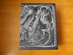The Glder Scrolls V:SKYRIM 【英文原版 全三本】原函套 厚革精装插图本 16开