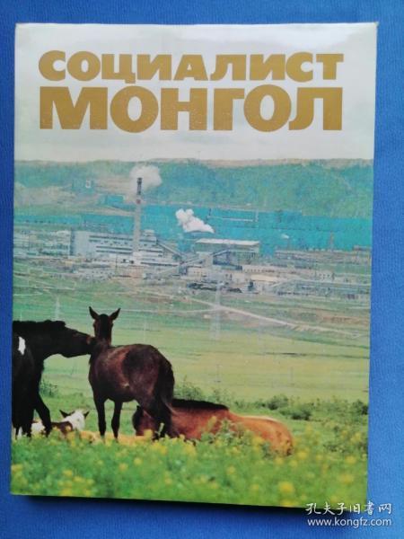 Социалист Монгол 俄文原版画册:社会主义的蒙古(大16来精装画册,1986年出版,146页,全彩图片,品好)