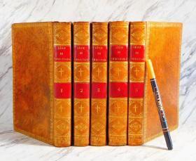 1809年法国皮革面GENIE DU CHRISTIANISME基督教精髓5卷全套