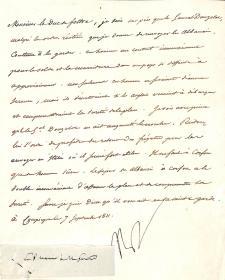 法兰西大帝 拿破仑 1811年亲笔签名信 PSA认证