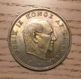 超大个1961年丹麦5克朗大硬币弗雷德里克国王(鄙视刷屏卖假币的)
