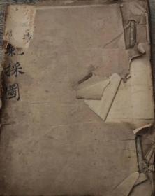【阴阳顺逆挨星图】杨公手抄风水地理稿本 如图彩(800圆)