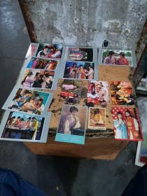 明信片 红楼梦 (存7张)另附有关红楼梦香片,卡片6枚合