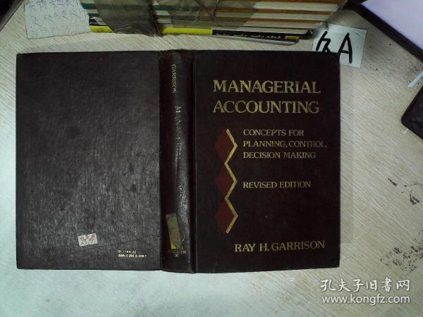 MANAGERIAL ACCOUNTING REVISED EDITION  管理会计修订版 16开   01