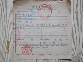 1976年湖北省鄂城县市镇居民粮食供应转移证明[张国顺]