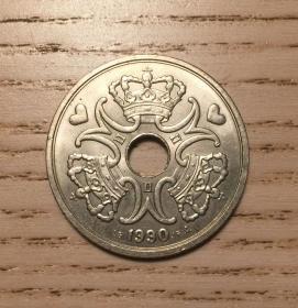 1990年丹麦5克朗大硬币爱心币(鄙视刷屏卖假币的)